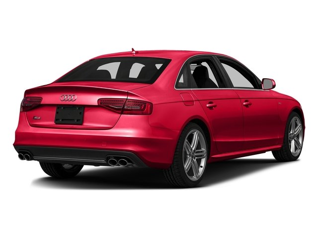 Misano Red Pearl Effect 2016 Audi S4 Pictures S4 Sedan 4D S4 Prestige AWD photos rear view