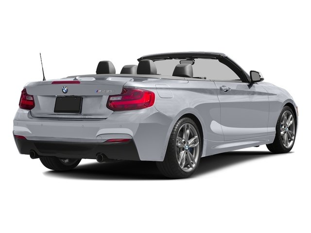 Glacier Silver Metallic 2016 BMW 2 Series Pictures 2 Series Convertible 2D M235i I6 Turbo photos rear view