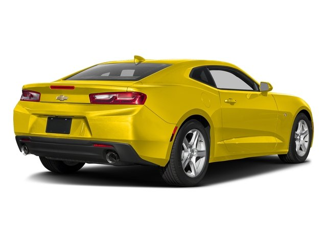 Bright Yellow 2016 Chevrolet Camaro Pictures Camaro Coupe 2D 2LT V6 photos rear view