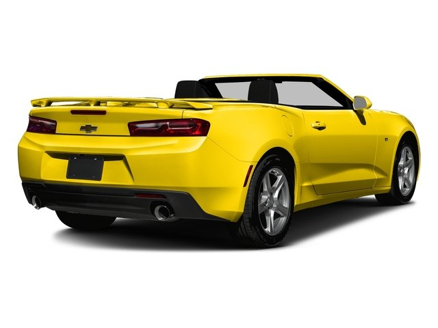 Bright Yellow 2016 Chevrolet Camaro Pictures Camaro Convertible 2D 2LT V6 photos rear view