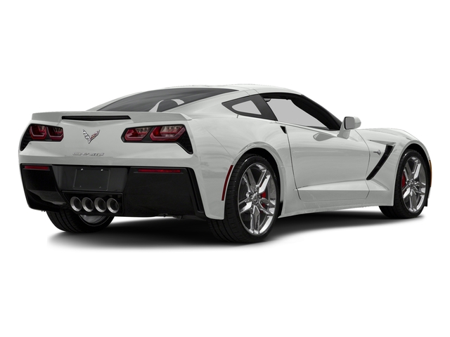 Arctic White 2016 Chevrolet Corvette Pictures Corvette Coupe 2D Z51 3LT V8 photos rear view