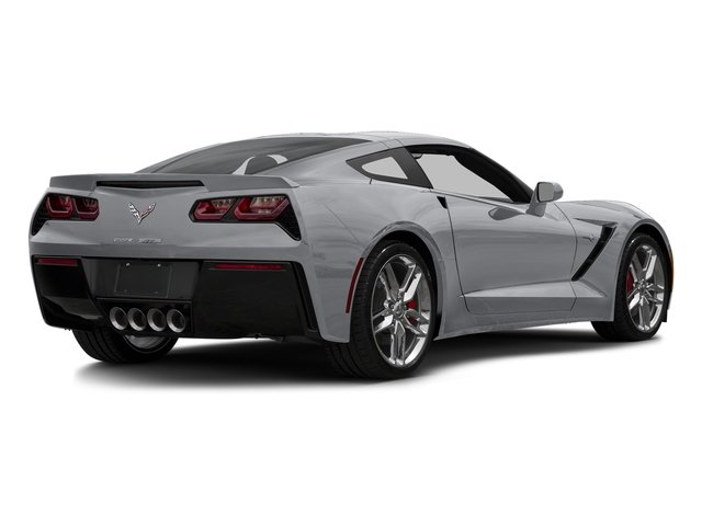 Blade Silver Metallic 2016 Chevrolet Corvette Pictures Corvette Coupe 2D Z51 3LT V8 photos rear view