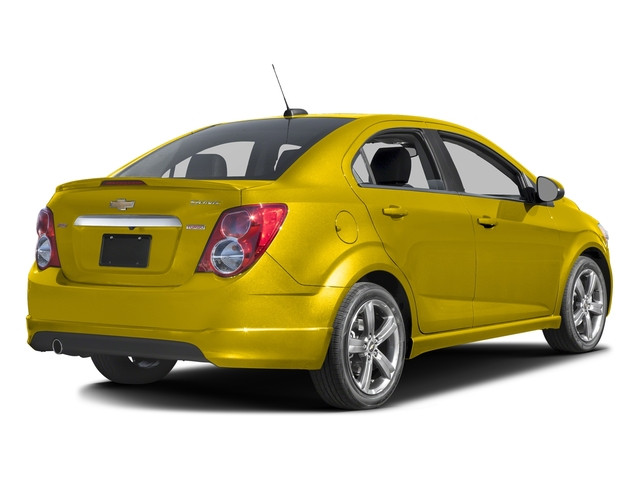 Bright Yellow 2016 Chevrolet Sonic Pictures Sonic Sedan 4D RS I4 photos rear view