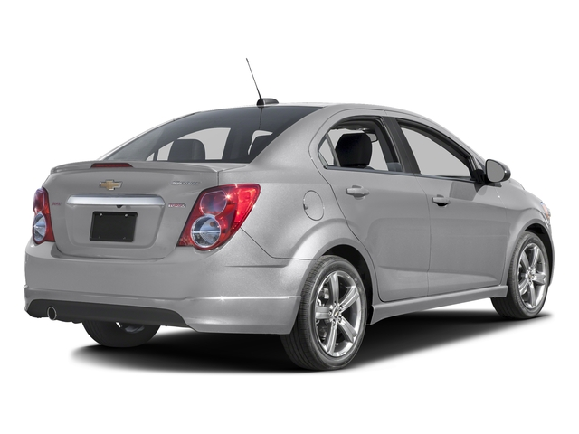 Silver Ice Metallic 2016 Chevrolet Sonic Pictures Sonic Sedan 4D RS I4 photos rear view
