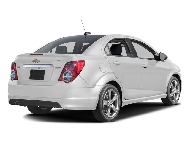 Summit White 2016 Chevrolet Sonic Pictures Sonic Sedan 4D RS I4 photos rear view