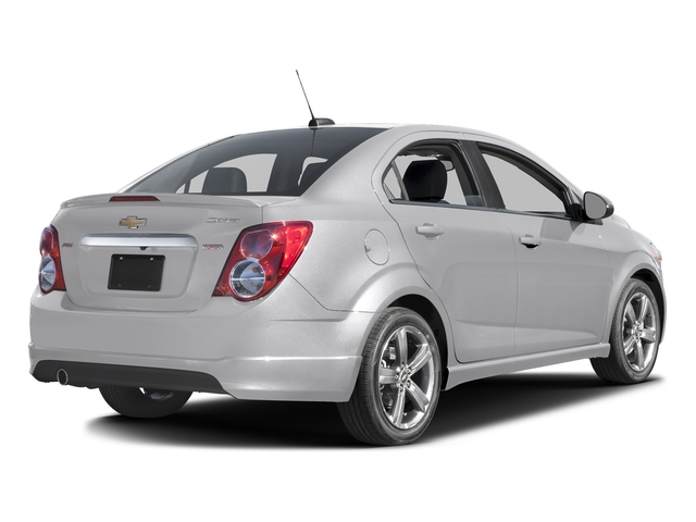 White Diamond Tricoat 2016 Chevrolet Sonic Pictures Sonic Sedan 4D RS I4 photos rear view