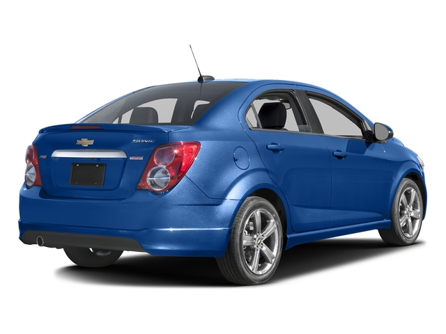 Kinetic Blue Metallic 2016 Chevrolet Sonic Pictures Sonic Sedan 4D RS I4 photos rear view
