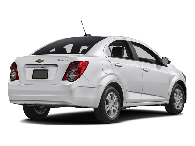 Summit White 2016 Chevrolet Sonic Pictures Sonic Sedan 4D LS I4 photos rear view