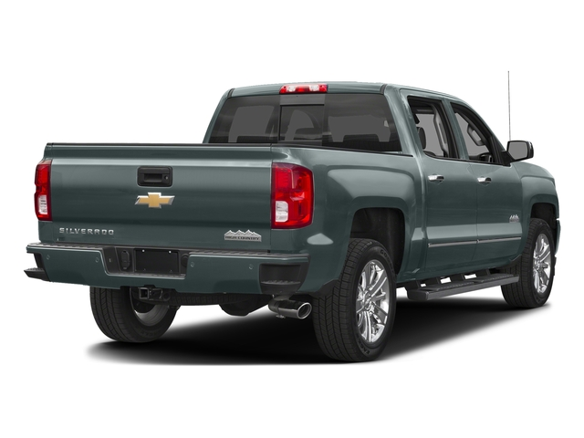 Slate Grey Metallic 2016 Chevrolet Silverado 1500 Pictures Silverado 1500 Crew Cab High Country 2WD photos rear view