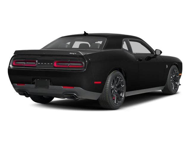 Pitch Black Clearcoat 2016 Dodge Challenger Pictures Challenger Coupe 2D SRT Hellcat V8 Supercharged photos rear view