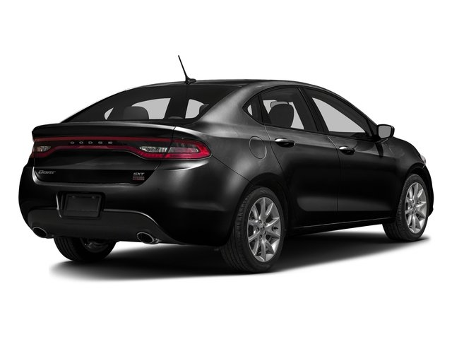 Pitch Black Clearcoat 2016 Dodge Dart Pictures Dart Sedan 4D SE I4 photos rear view