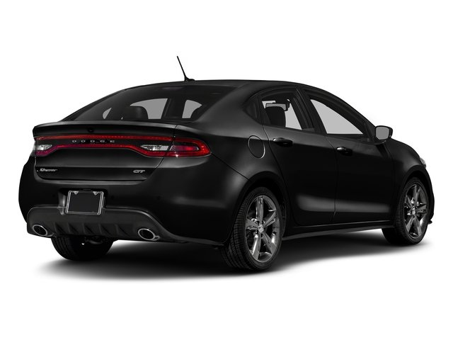Pitch Black Clearcoat 2016 Dodge Dart Pictures Dart Sedan 4D GT I4 photos rear view