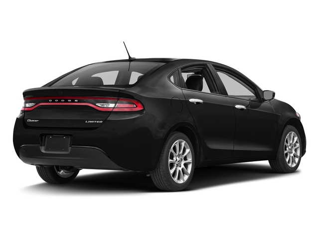 Pitch Black Clearcoat 2016 Dodge Dart Pictures Dart Sedan 4D Limited I4 photos rear view