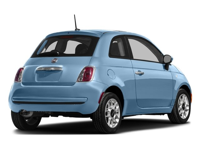 Celeste Blu (Retro Light Blue) 2016 FIAT 500 Pictures 500 Hatchback 3D Lounge I4 photos rear view