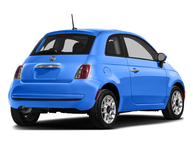 Laser Blu (Bright Met. Blue) 2016 FIAT 500 Pictures 500 Hatchback 3D Lounge I4 photos rear view