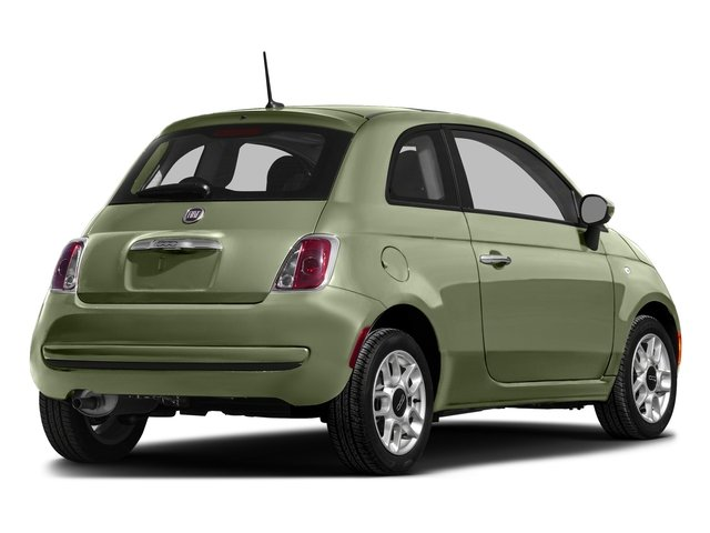 Verde Oliva (Olive Green) 2016 FIAT 500 Pictures 500 Hatchback 3D Lounge I4 photos rear view