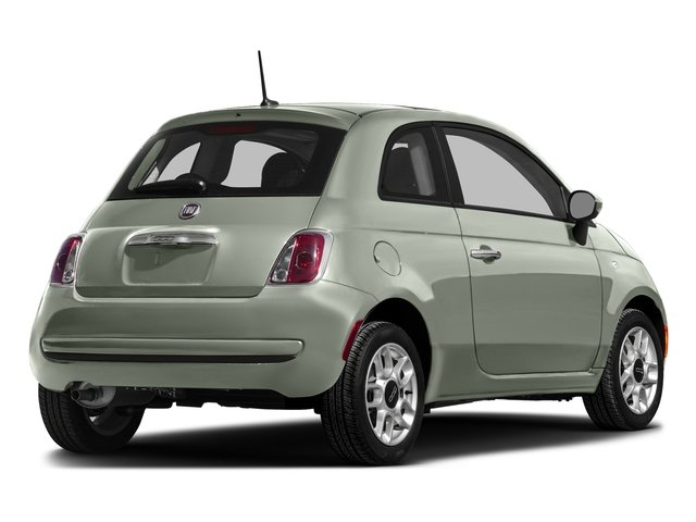 Verde Chiaro (Light Green) 2016 FIAT 500 Pictures 500 Hatchback 3D Lounge I4 photos rear view