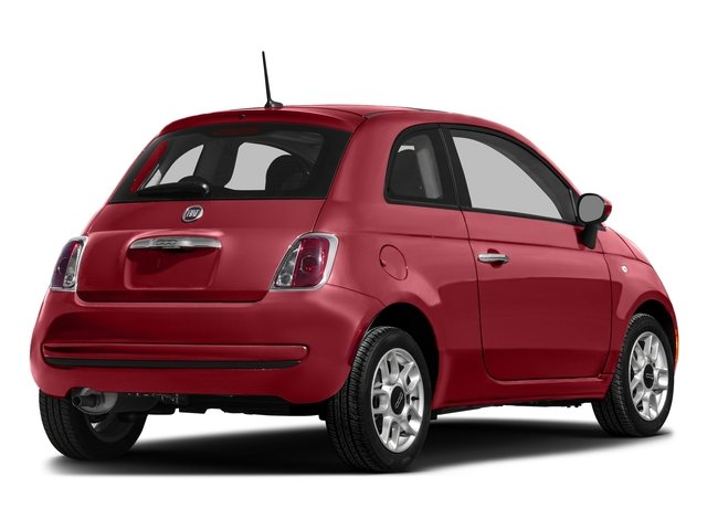 Rosso (Red) 2016 FIAT 500 Pictures 500 Hatchback 3D Lounge I4 photos rear view