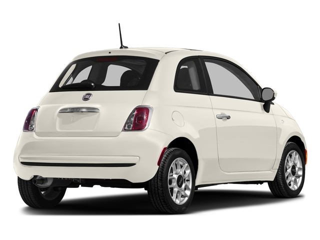 Bianco (White) 2016 FIAT 500 Pictures 500 Hatchback 3D Lounge I4 photos rear view