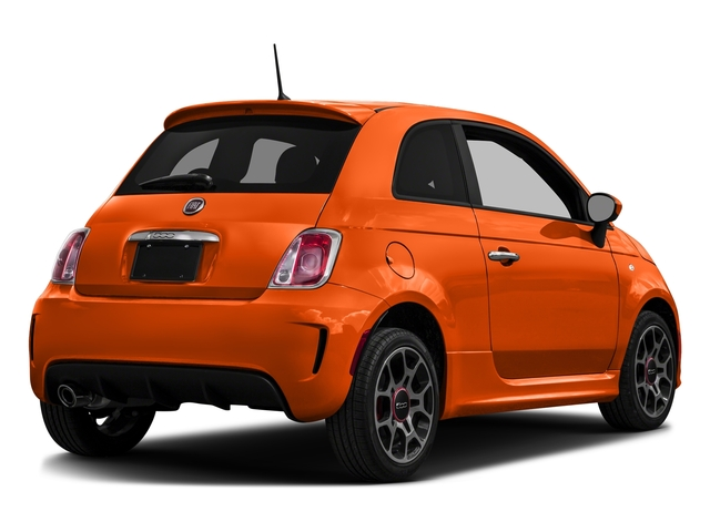 Spitfire Orange 2016 FIAT 500 Pictures 500 Hatchback 3D I4 Turbo photos rear view