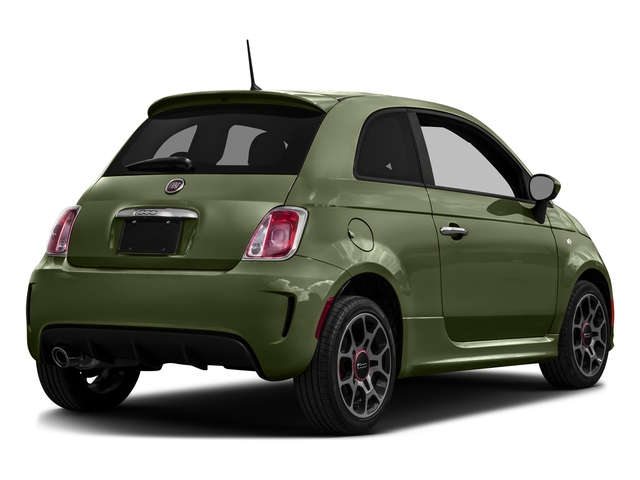 Verde Oliva (Olive Green) 2016 FIAT 500 Pictures 500 Hatchback 3D I4 Turbo photos rear view
