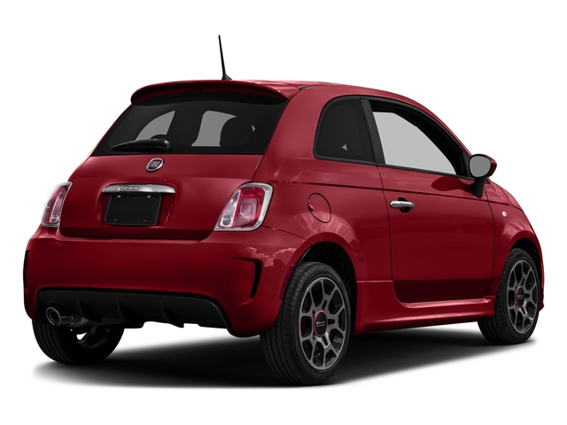 Rosso (Red) 2016 FIAT 500 Pictures 500 Hatchback 3D I4 Turbo photos rear view