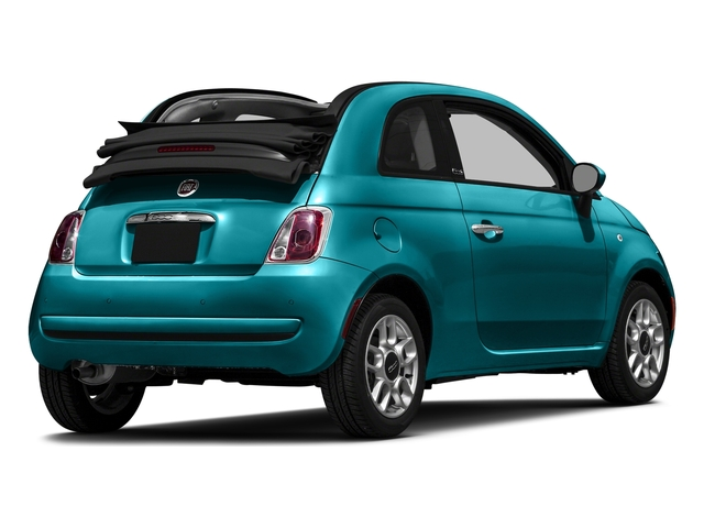 Laser Blu (Bright Met. Blue) 2016 FIAT 500c Pictures 500c Convertible 2D Lounge I4 photos rear view