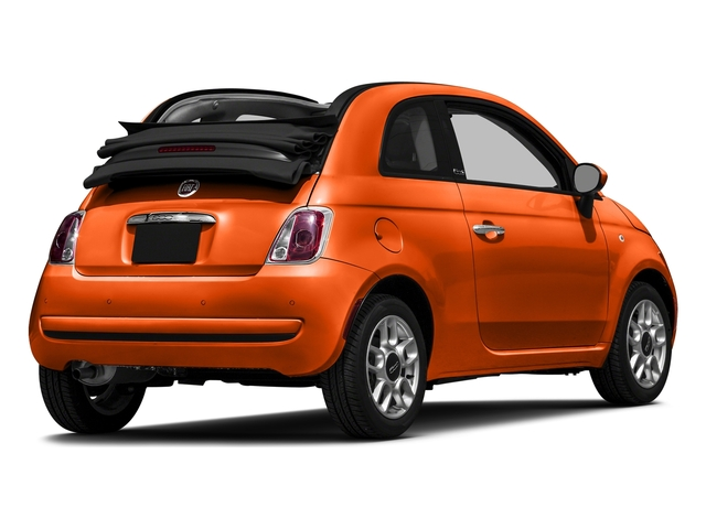 Spitfire Orange 2016 FIAT 500c Pictures 500c Convertible 2D Lounge I4 photos rear view