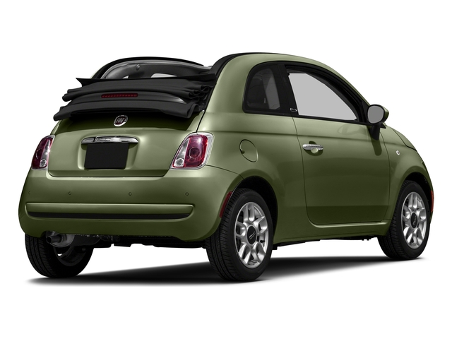 Verde Oliva (Olive Green) 2016 FIAT 500c Pictures 500c Convertible 2D Lounge I4 photos rear view