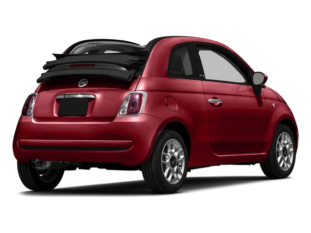 Rosso (Red) 2016 FIAT 500c Pictures 500c Convertible 2D Easy I4 photos rear view