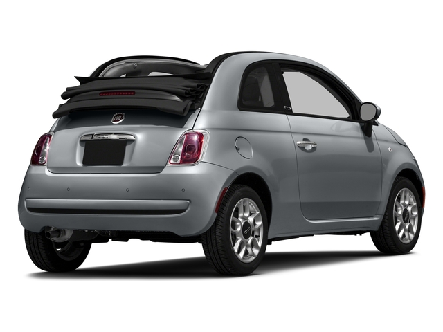 Billet Argento (Silver) 2016 FIAT 500c Pictures 500c Convertible 2D Lounge I4 photos rear view