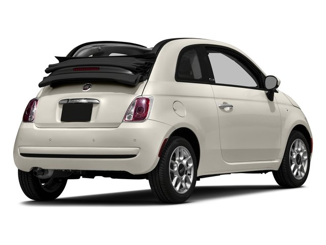 Bianco (White) 2016 FIAT 500c Pictures 500c Convertible 2D Lounge I4 photos rear view