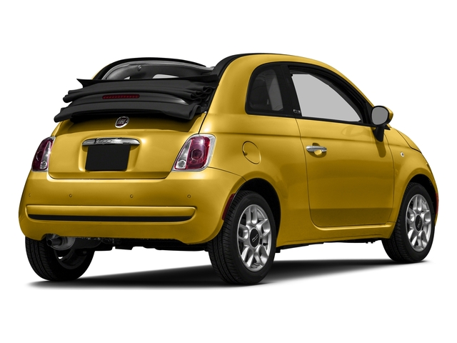 Giallo Moderna Perla (Pearl Yellow TC) 2016 FIAT 500c Pictures 500c Convertible 2D Easy I4 photos rear view