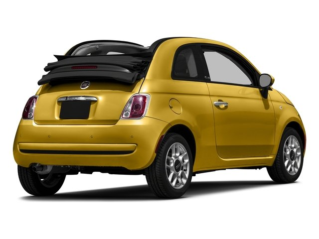 Giallo Moderna Perla (Pearl Yellow TC) 2016 FIAT 500c Pictures 500c Convertible 2D Pop I4 photos rear view