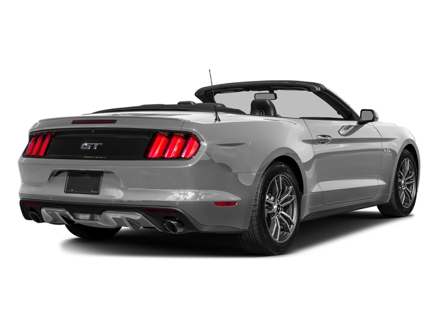 Ingot Silver Metallic 2016 Ford Mustang Pictures Mustang Convertible 2D GT Premium V8 photos rear view