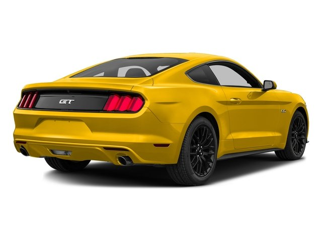 Triple Yellow Tri-Coat 2016 Ford Mustang Pictures Mustang Coupe 2D GT V8 photos rear view