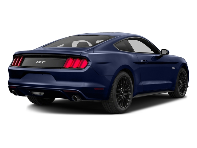 Deep Impact Blue Metallic 2016 Ford Mustang Pictures Mustang Coupe 2D GT V8 photos rear view