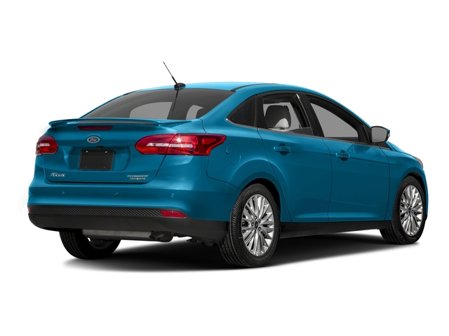 Blue Candy Metallic Tinted Clearcoat 2016 Ford Focus Pictures Focus Sedan 4D Titanium I4 photos rear view