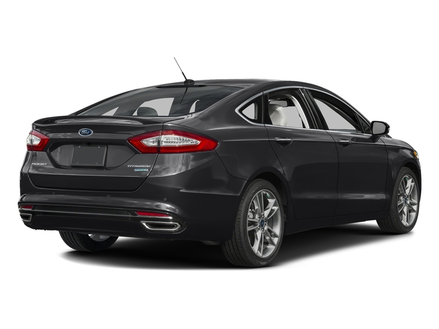 Shadow Black 2016 Ford Fusion Pictures Fusion Sedan 4D Titanium AWD I4 Turbo photos rear view