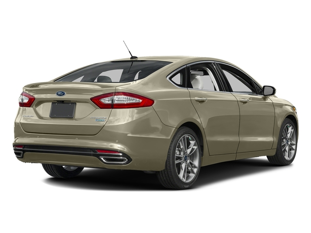 Tectonic 2016 Ford Fusion Pictures Fusion Sedan 4D Titanium AWD I4 Turbo photos rear view