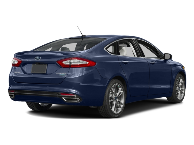 Deep Impact Blue 2016 Ford Fusion Pictures Fusion Sedan 4D Titanium AWD I4 Turbo photos rear view