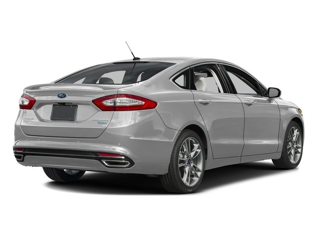 Ingot Silver 2016 Ford Fusion Pictures Fusion Sedan 4D Titanium AWD I4 Turbo photos rear view