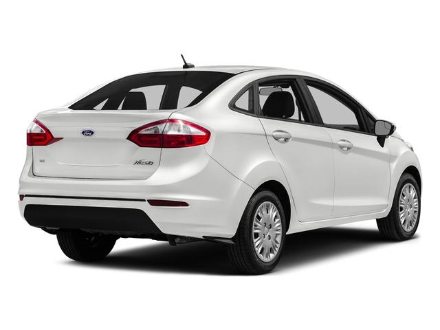 White Platinum Metallic Tri-Coat 2016 Ford Fiesta Pictures Fiesta Sedan 4D SE I4 photos rear view