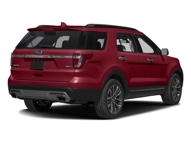 Ruby Red Metallic Tinted Clearcoat 2016 Ford Explorer Pictures Explorer Utility 4D Platinum 4WD V6 photos rear view