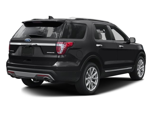Shadow Black 2016 Ford Explorer Pictures Explorer Utility 4D Limited 2WD V6 photos rear view