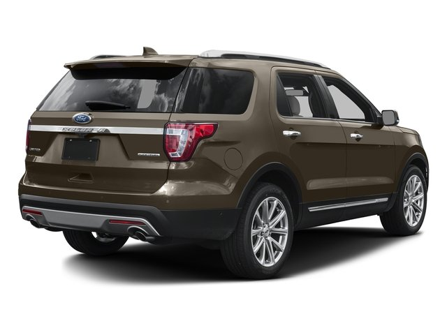 Caribou Metallic 2016 Ford Explorer Pictures Explorer Utility 4D Limited 2WD V6 photos rear view