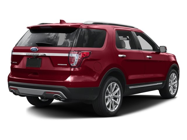 Ruby Red Metallic Tinted Clearcoat 2016 Ford Explorer Pictures Explorer Utility 4D Limited 2WD V6 photos rear view