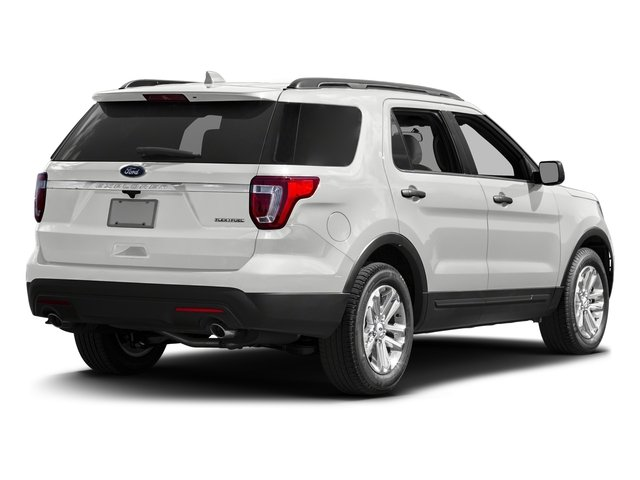 Oxford White 2016 Ford Explorer Pictures Explorer Utility 4D EcoBoost 2WD I4 photos rear view
