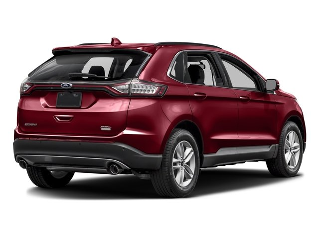 Ruby Red Metallic Tinted Clearcoat 2016 Ford Edge Pictures Edge Utility 4D SEL 2WD V6 photos rear view