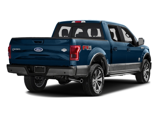 Blue Jeans Metallic 2016 Ford F-150 Pictures F-150 Crew Cab King Ranch 4WD photos rear view